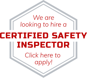 We are looking to hire a Certified Safety Inspector. Click Here to Apply!